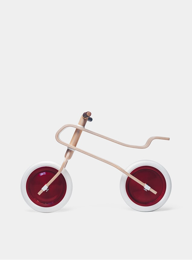 Candy Apple Red / Oak Balance Bike