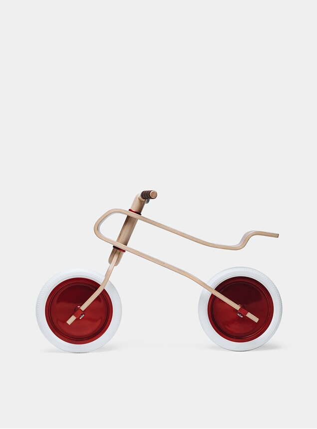 Candy Apple Red / Walnut Balance Bike