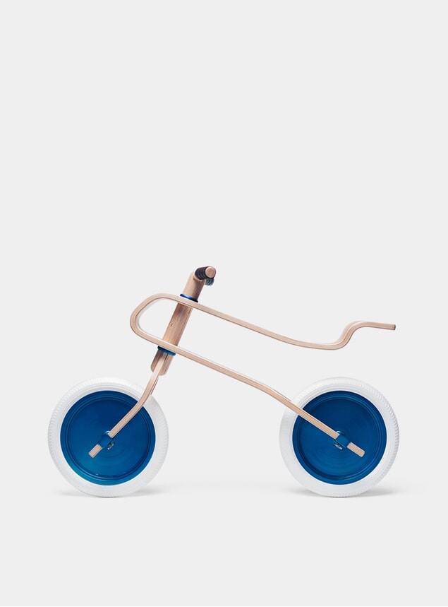 Candy Blue / Oak Balance Bike