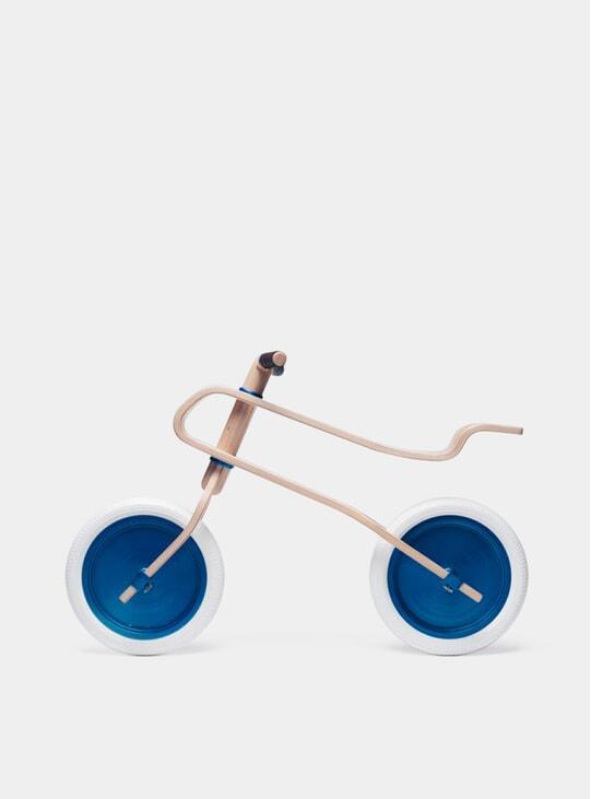 Candy Blue / Walnut Balance Bike