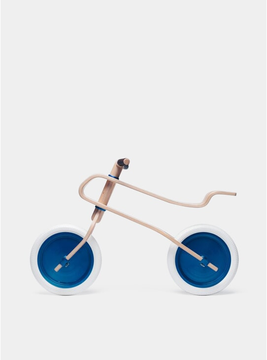 Candy Blue / Walnut Balance Bike
