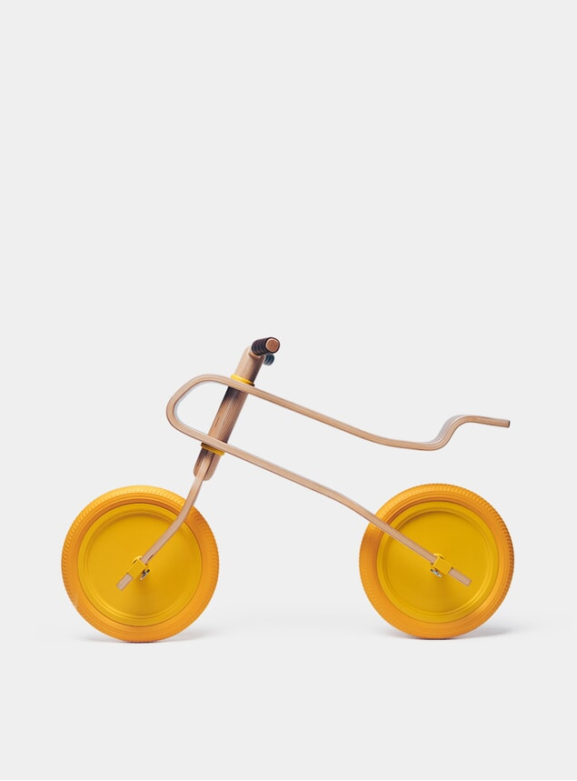 Candy Yellow / Oak Balance Bike