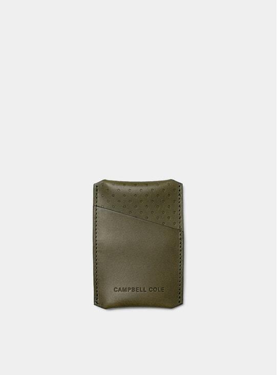 Khaki Simple Card Holder