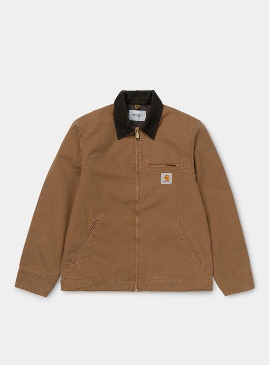 Brown Rinsed Detroirt Jacket