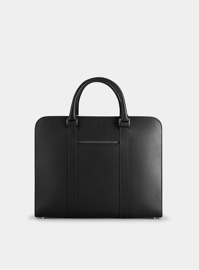 Black / Grey Palissy Double Briefcase