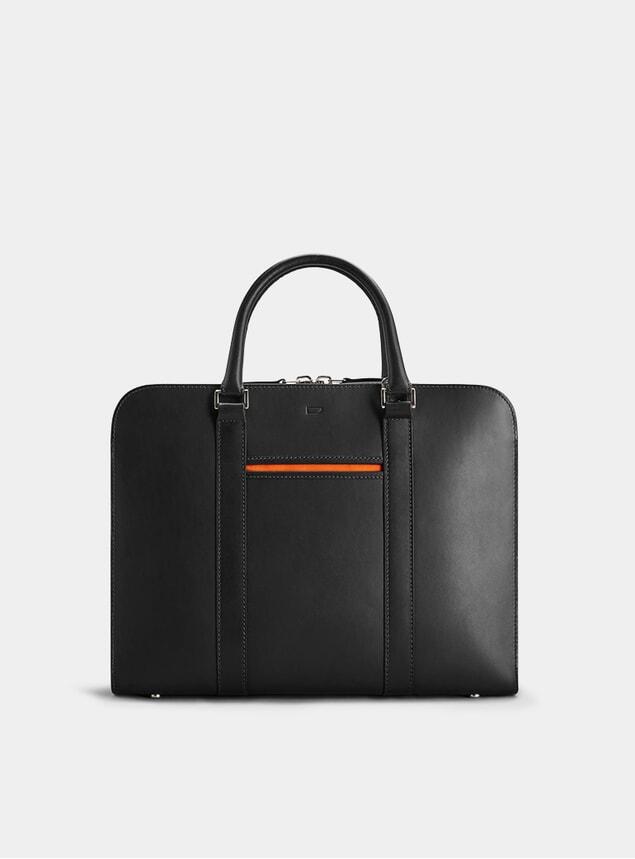 Black / Orange Palissy Briefcase