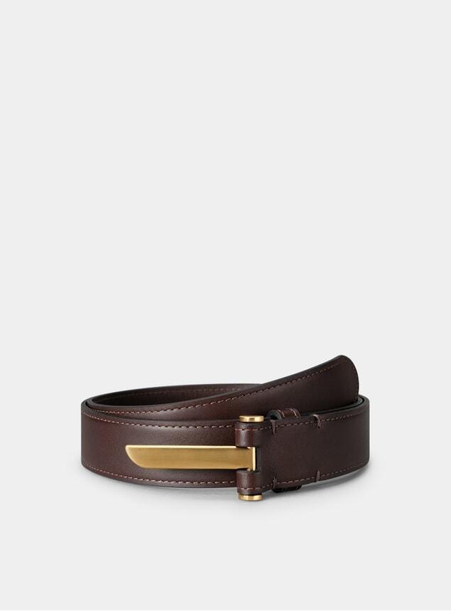 Brass / Chocolate Blade Belt