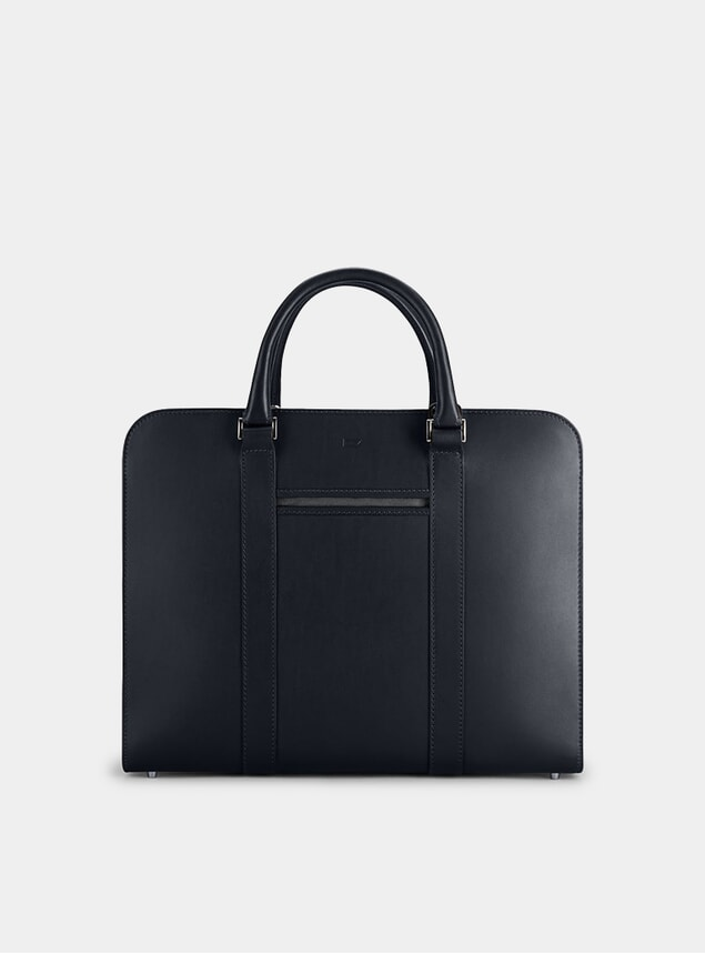 Navy / Grey Palissy Double Briefcase