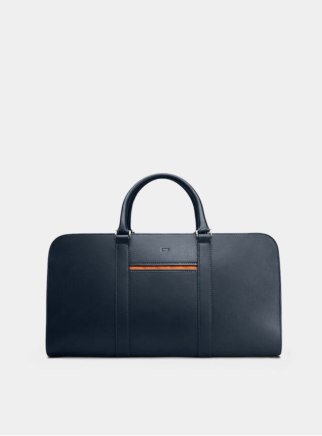 Navy / Orange Palissy Weekend Bag
