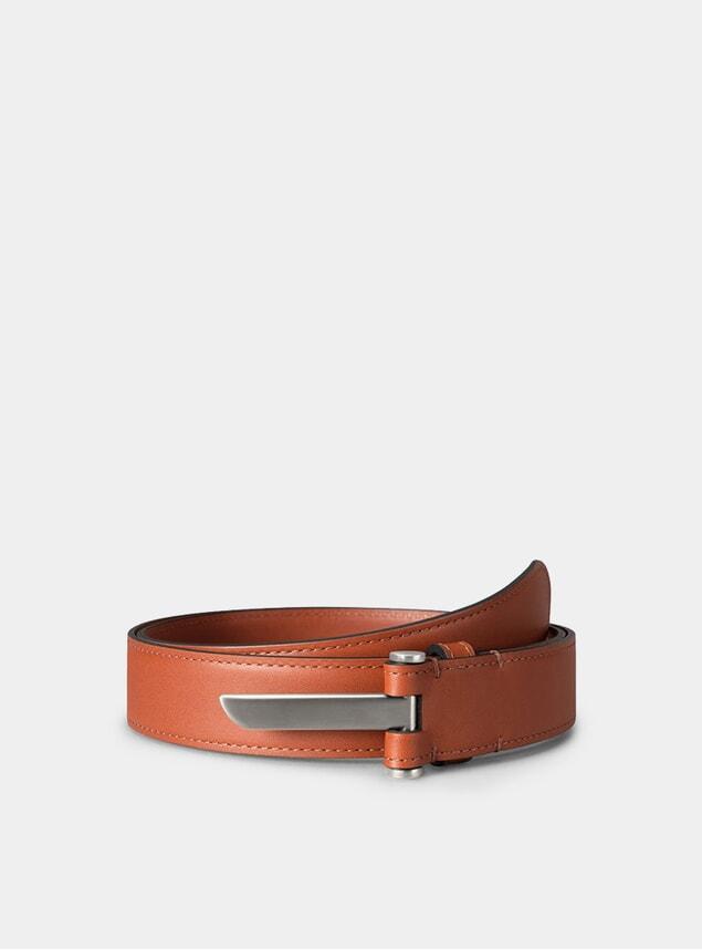 Palladium / Cognac Metal Belt