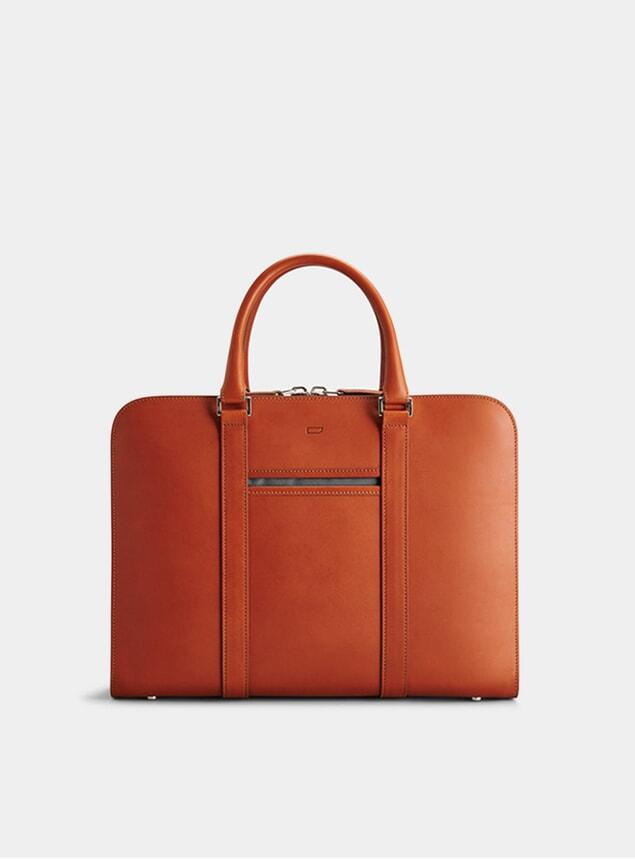 Cognac / Grey Palissy Briefcase
