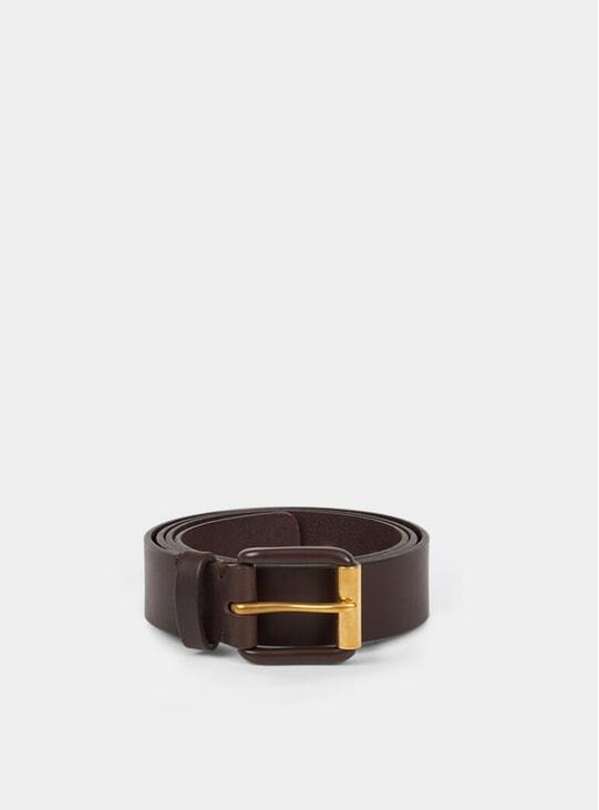 Chocolate Brown / Brown Modernist Exposed Belt