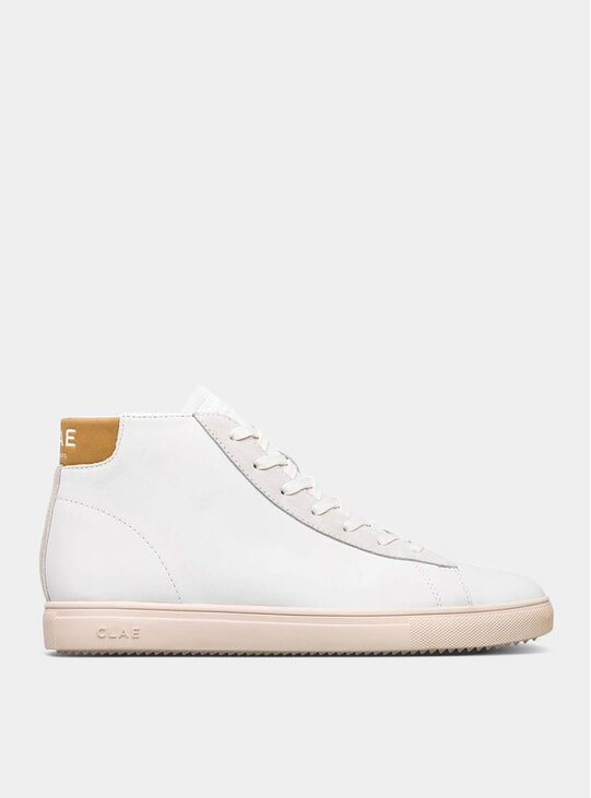 Camel Bradley California White Milled Sneakers