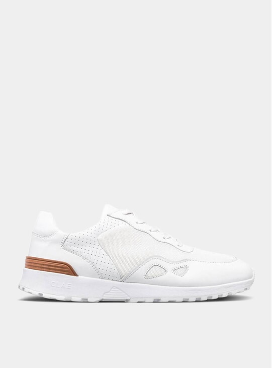 Hayden Triple White Leather Sneakers