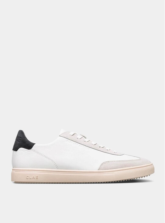 White Leather / Black Deane Sneakers