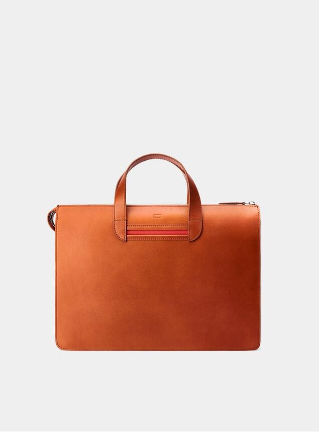 Cognac / Red Vallance Briefcase