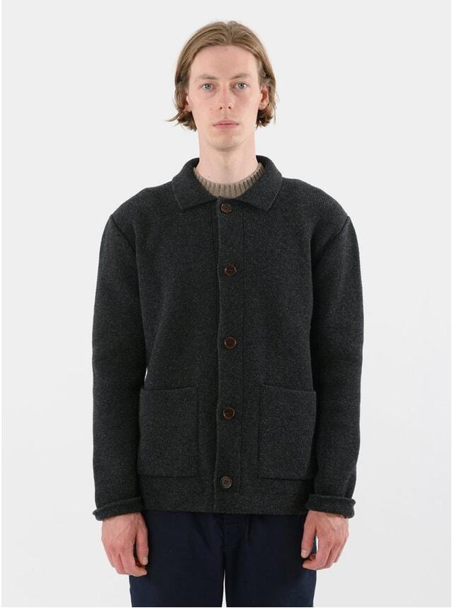Charcoal Lambswool Chore Jacket
