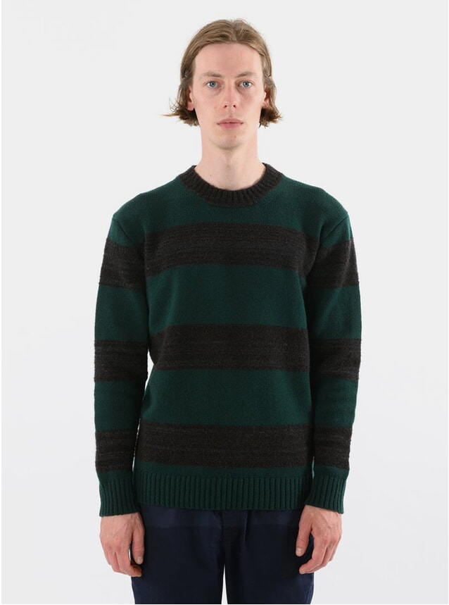 Green / Grey Stripe Fleece