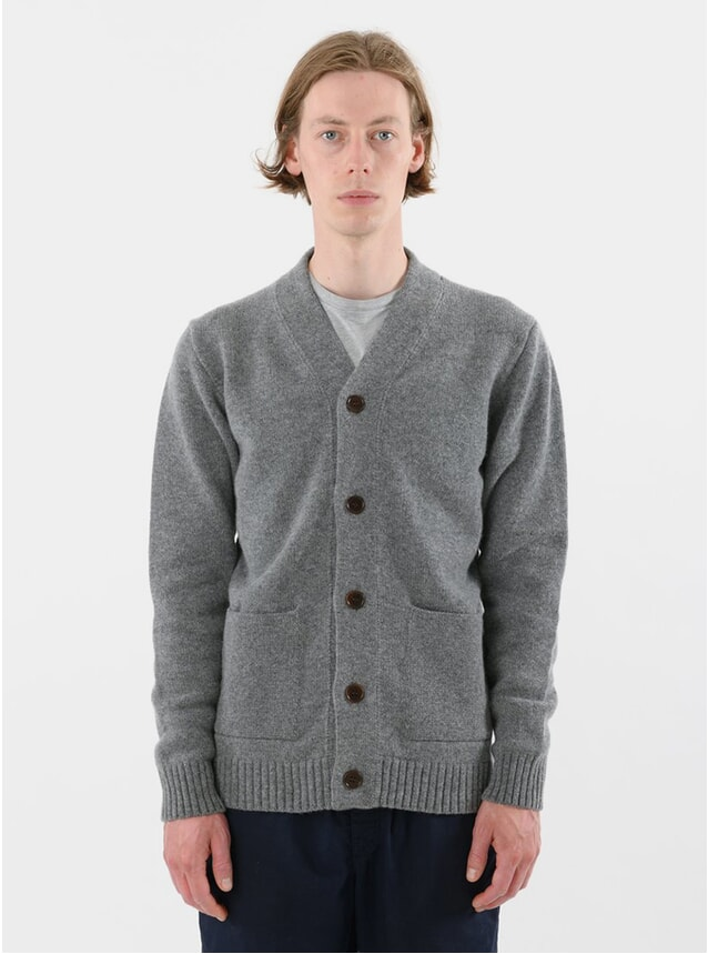 Grey Lambswool Cardigan