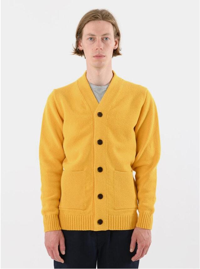 Yellow Lambswool Cardigan