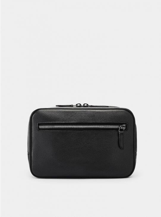 Black Berwick Grained Wash Bag
