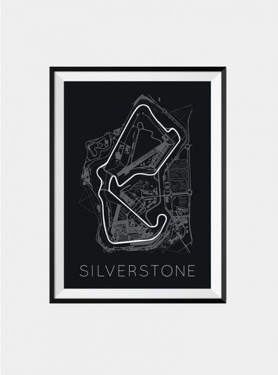 F1 Silverstone Track Print