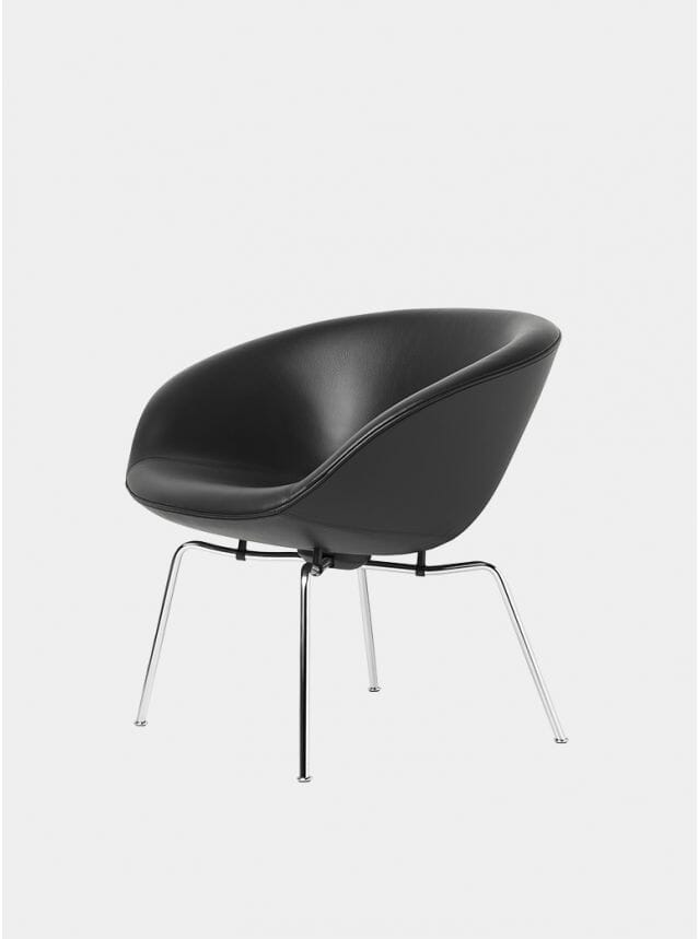 Black / Chrome Pot Chair