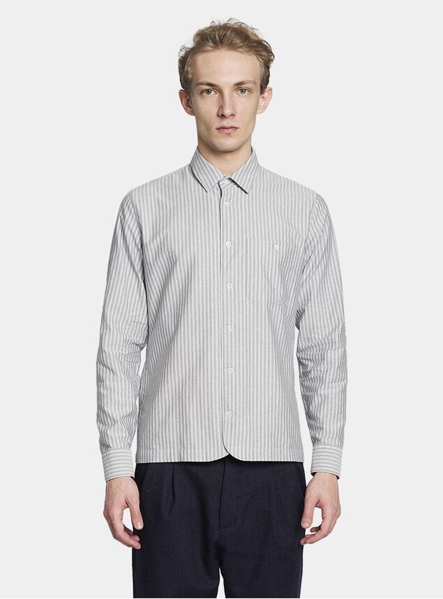 Grey Stripe Strong Shirt