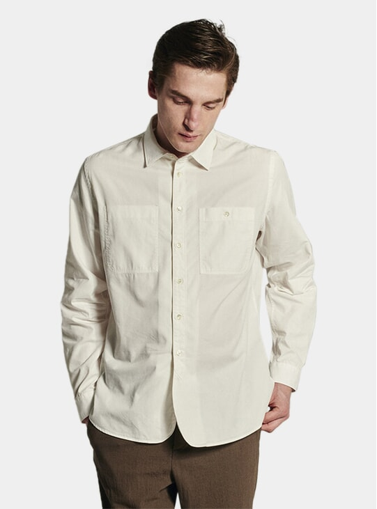White Portuguese Cotton Relaxed Farmer Shirt