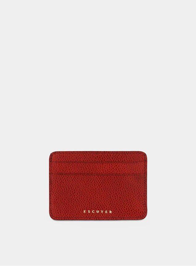 Grained Red Cardholder