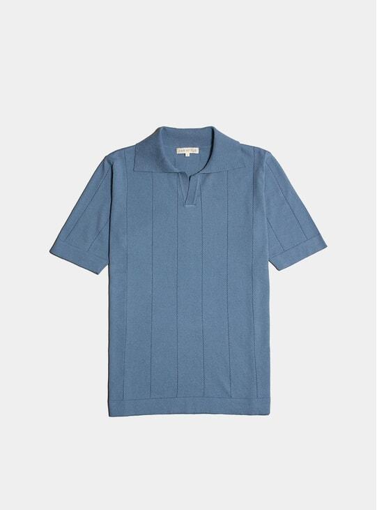 Stonewash Blue Clifford S/S Polo