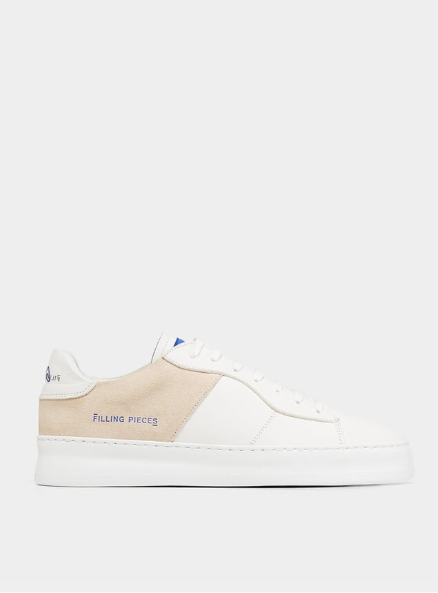 White Organic Low Plain Court 683 Sneakers