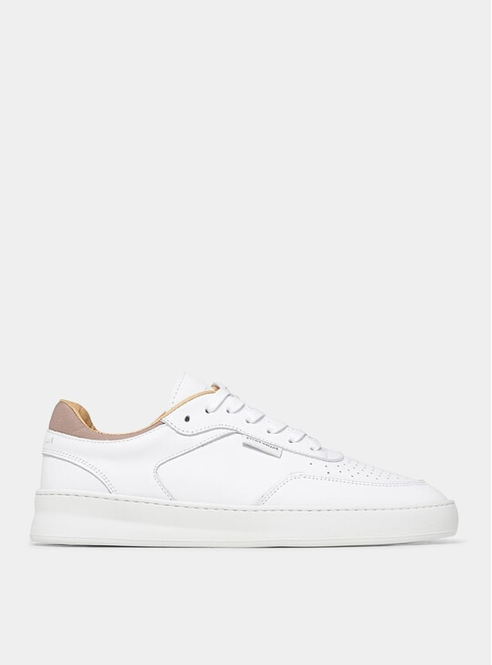 All White Spate Plain Phase Sneakers