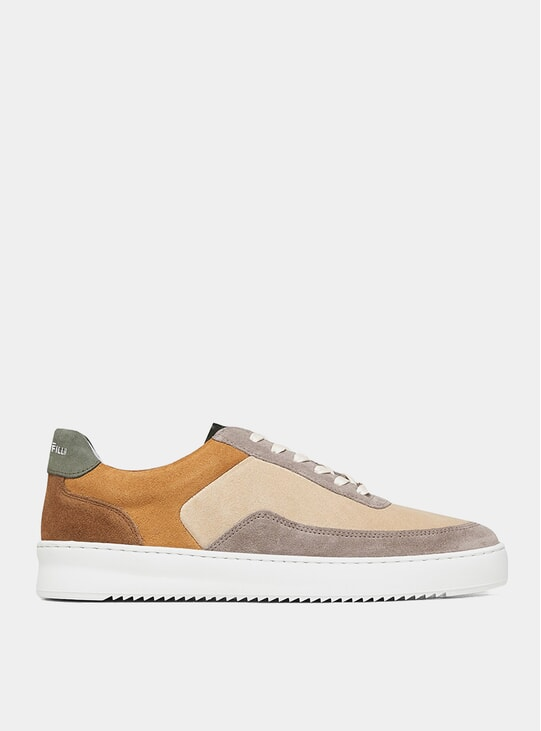 Beige Split Mondo Ripple Sneakers