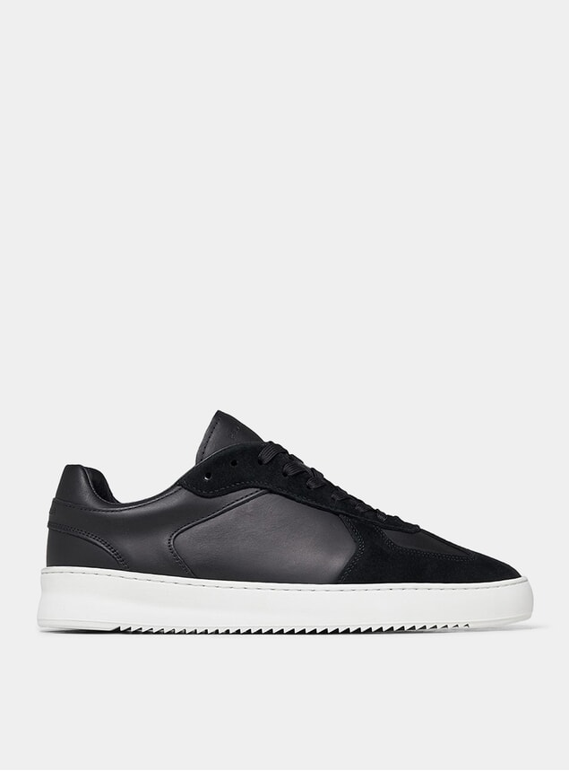 Black Field Ripple Pine Sneakers