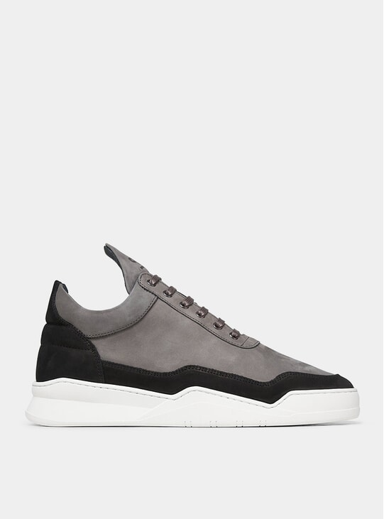 Black / Grey Low Top Ghost Nubuck Sneakers