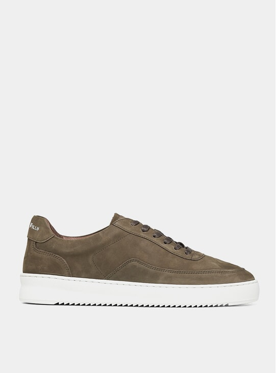 Dark Green Nubuck Mondo Ripple Sneakers