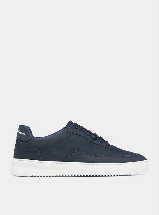 Navy Blue Nubuck Mondo 2.0 Ripple Sneakers