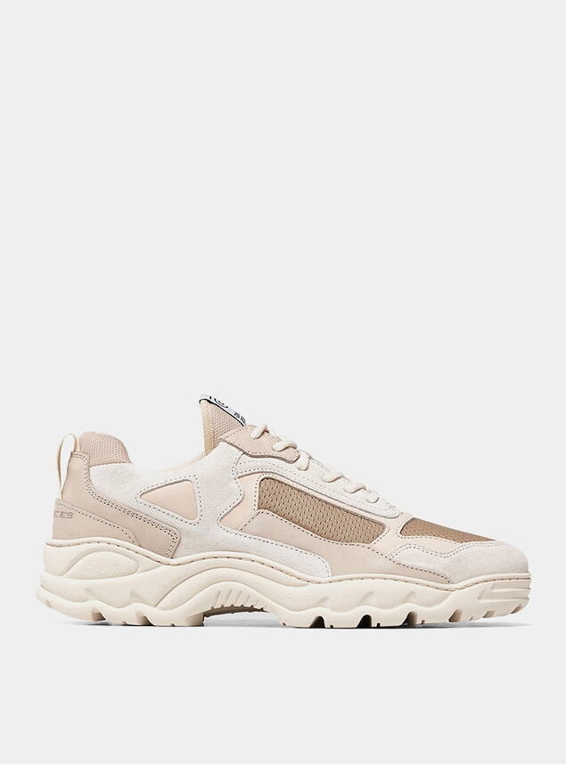 White / Beige Low Curve Iceman Trimix Sneakers