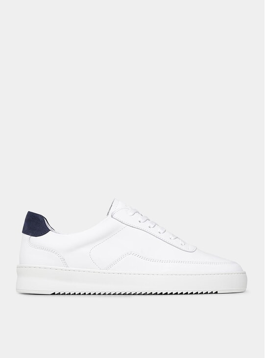 White / Navy Blue Mondo 2.0 Ripple Sneakers