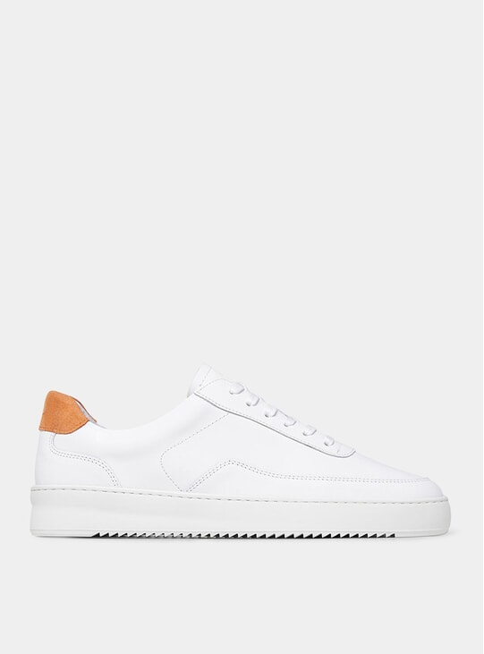 White / Orange Mondo 2.0 Ripple Sneakers