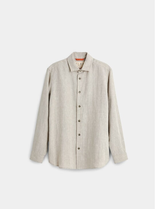 Oatmeal Winter Linen Signature Shirt