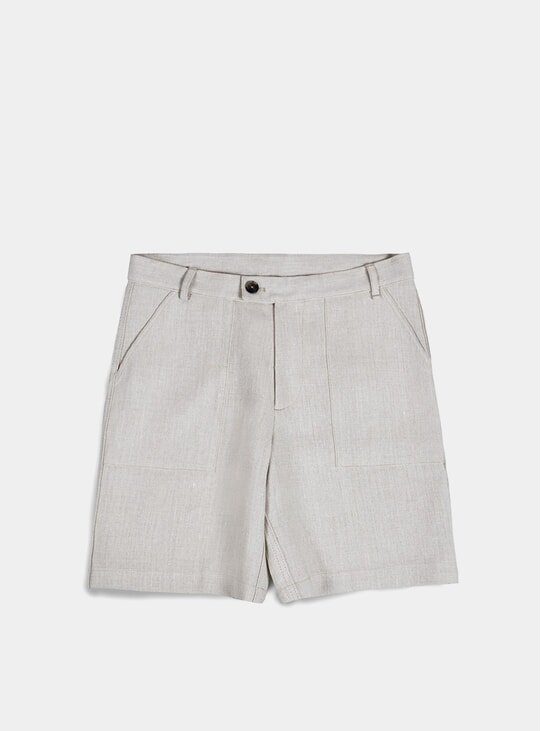 Sand Canvas Patch Pocket Shorts