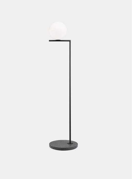 Black / Black Lava Base IC F1 Outdoor Lamp