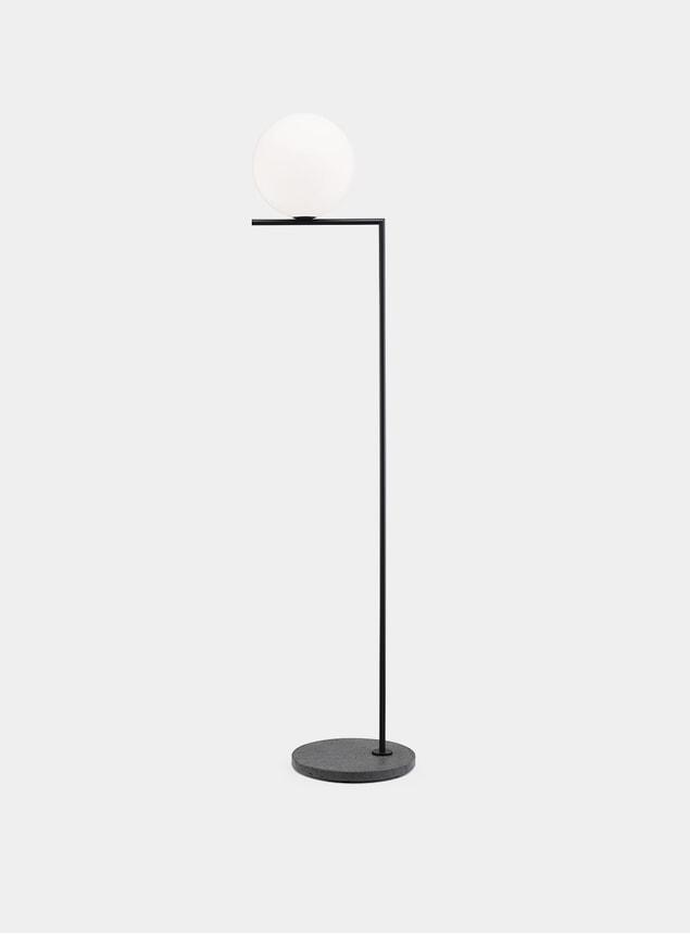 Black / Black Lava Stone Base IC F2 Outdoor Lamp