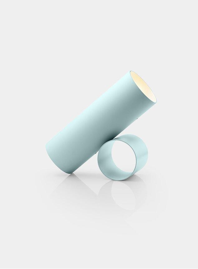 Blue Grey Sawaru Floor Lamp