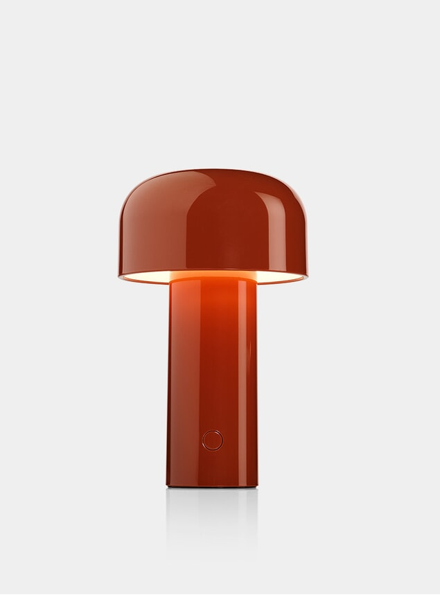 Brick Red Bellhop Desk Lamp