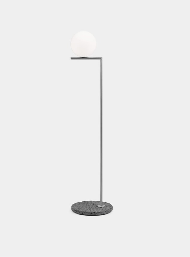 Brushed Stainless Steel / Stone IC F1 Outdoor Lamp