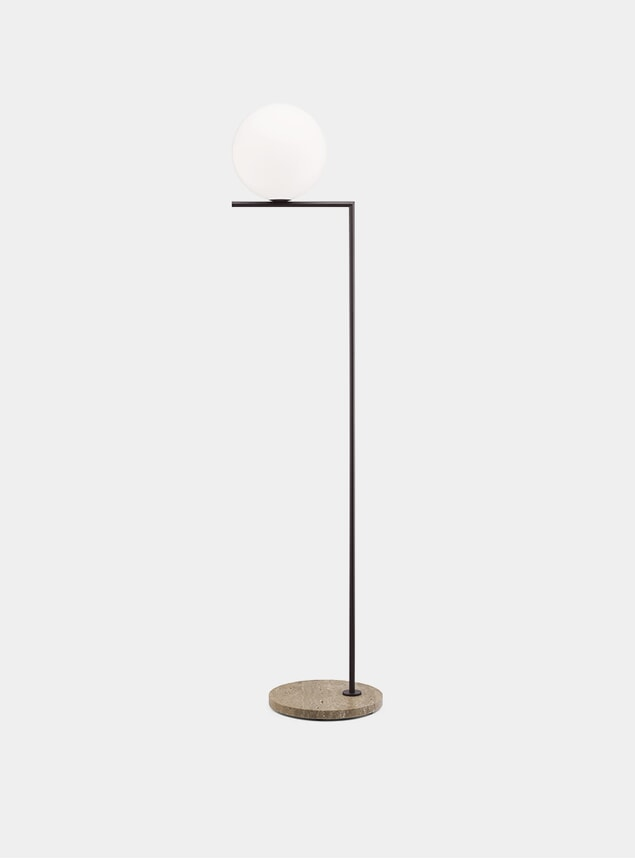 Deep Brown / Stone Base IC F2 Outdoor Lamp