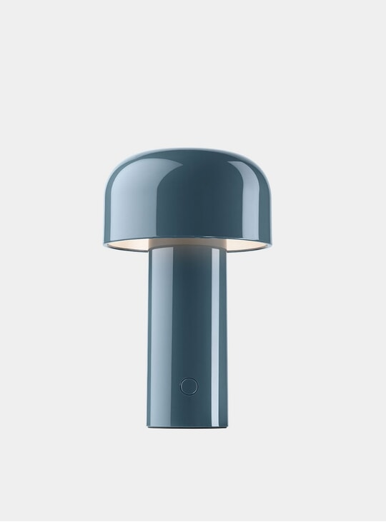 Grey Blue Bellhop Desk Lamp